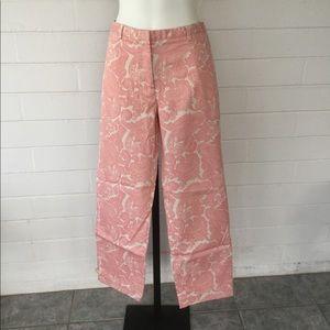 J. Crew Favorite Fit Pink Paisley Capri Pants 6